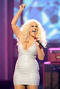 Christina Aguilera performs at the 2011 American Music Awards