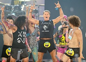 LMFAO and David Hasselhoff perform at the 2011 American Music Awards