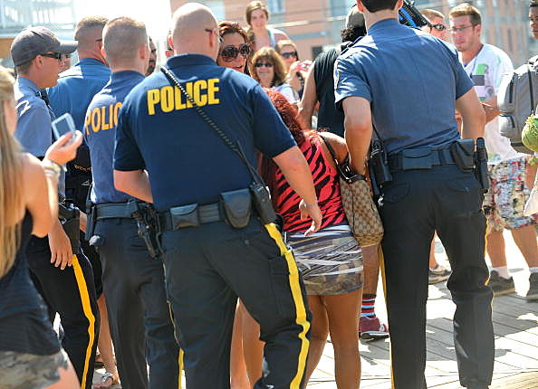 "Nicole ""Snooki"" Polizzi being arrested"