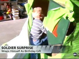 Soldier Returns For Sons Birthday