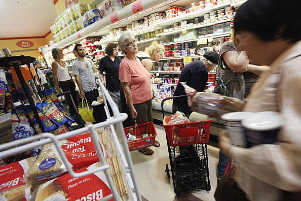 supermarket line