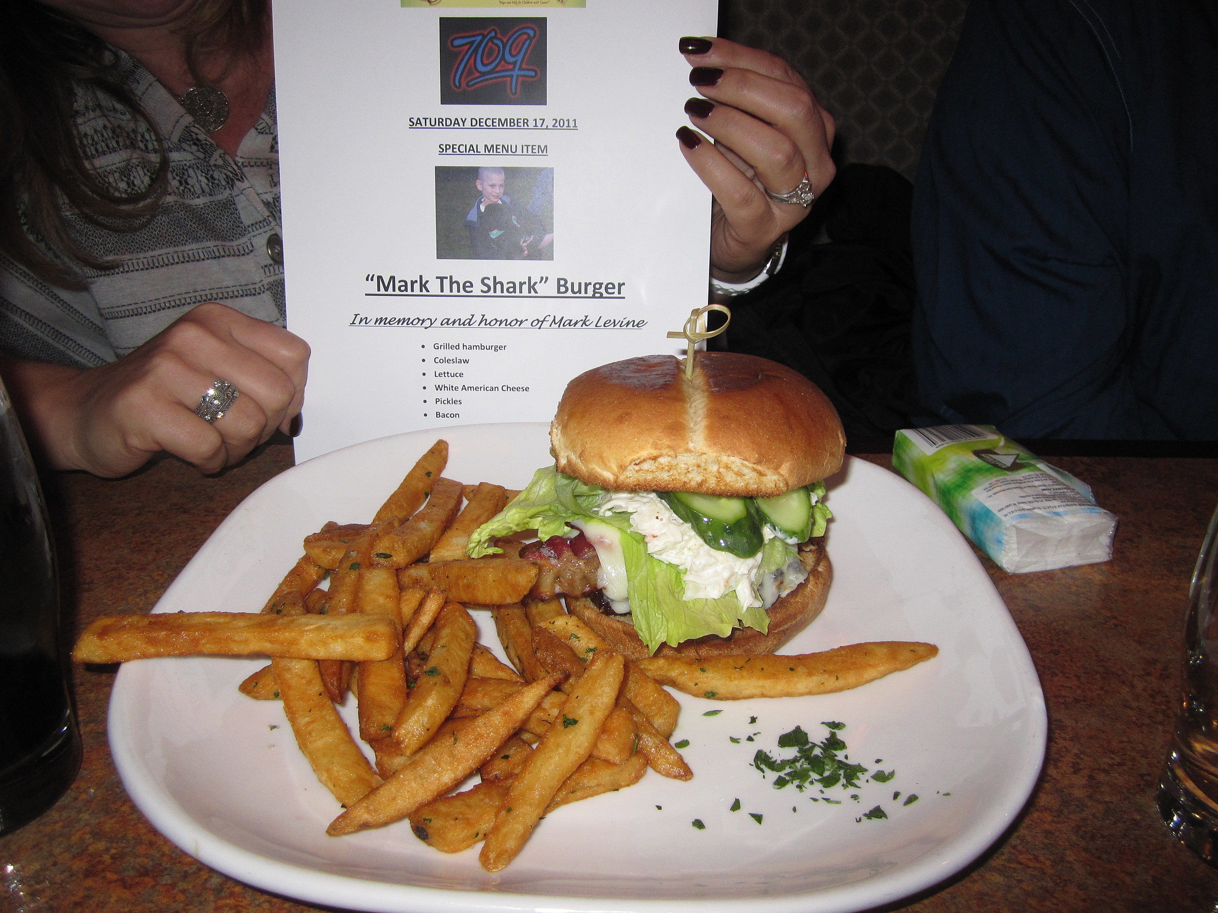 Mark The Shark Burger
