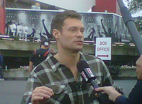 Ryan Seacrest at American Idol NJ auditions in September 2011