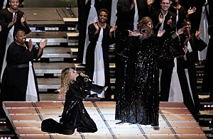 Madonna and Cee Lo Green Perform At The Super Bowl