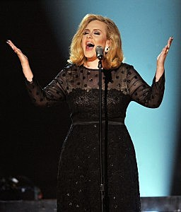 Adele performs at the Grammys 2012