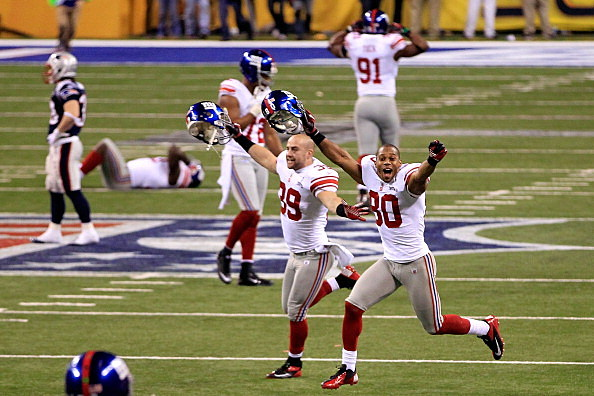 Giants celebrate Super Bowl win