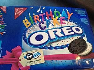 Birthday Cake Oreos box