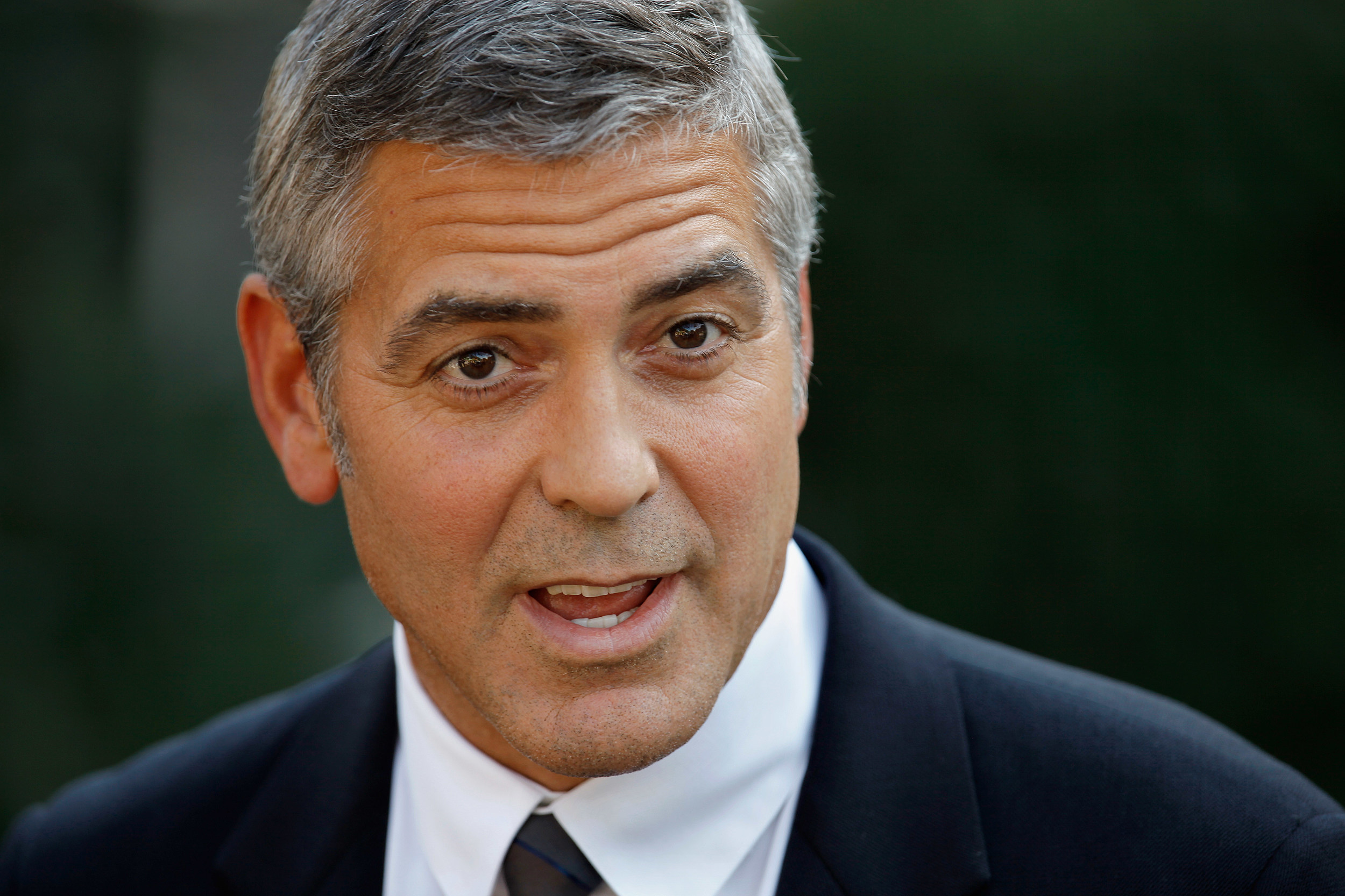 george clooney2 ... run about having sex with dead people was certainly an attention getter.