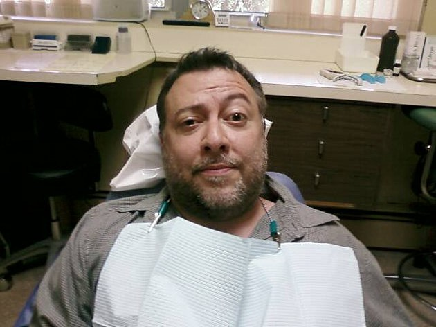 Lou in the dentist chair