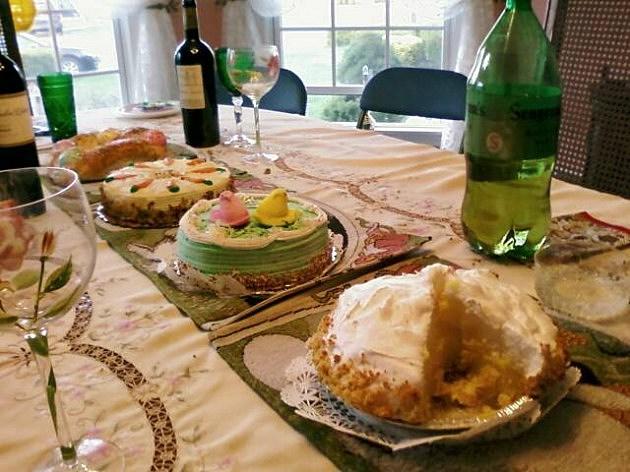 lemon meringue pie on the table