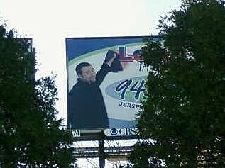 Lou on the billboard
