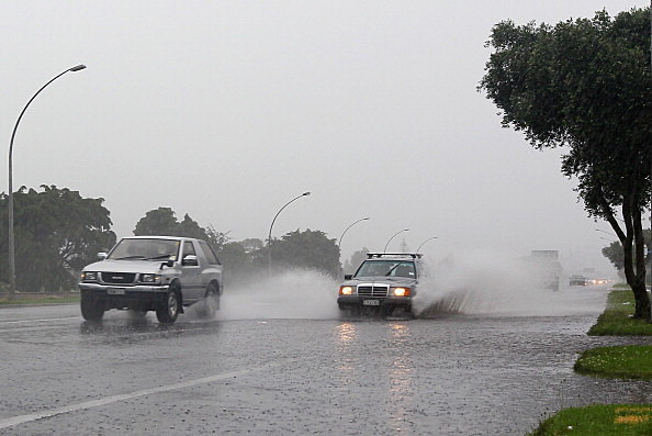 wet roadways