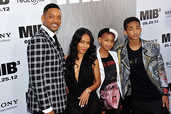 Will Smith and family