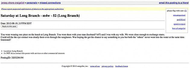 Funny and Creepy 'Missed Connections' from Craigslist ...