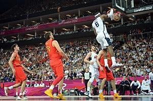 Lebron James slam dunk