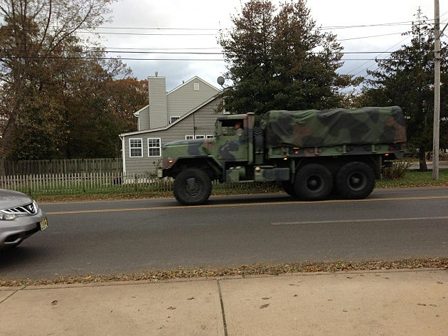 National Guard on the Jersey Shore
