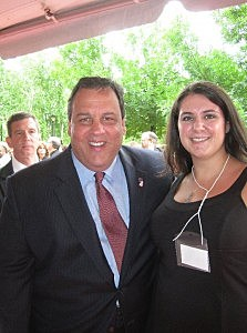 Governor Christie and Laurie Cataldo