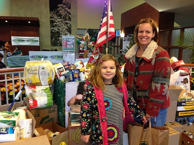 Stella & Kate Daly make a donation at  the Atlantic Club in Manasquan