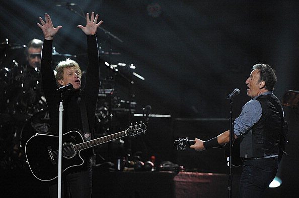 Bruce and Jon Bon Jovi