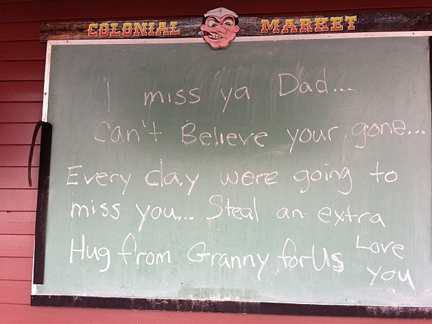 The sign outside Colonial Ranch Market