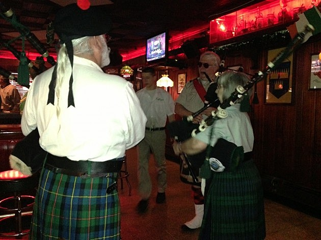 Bagpipers at Kelly's Tavern