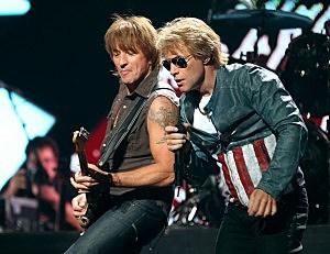 Richie Sambora and Jon Bon Jovi