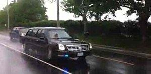 President Obama's limo speeds through Spring Lake Heights