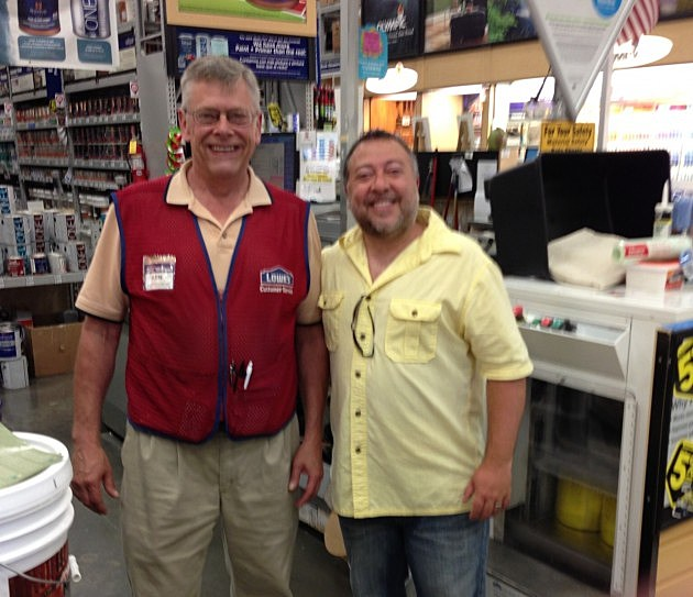 Lou at Lowes in Brick