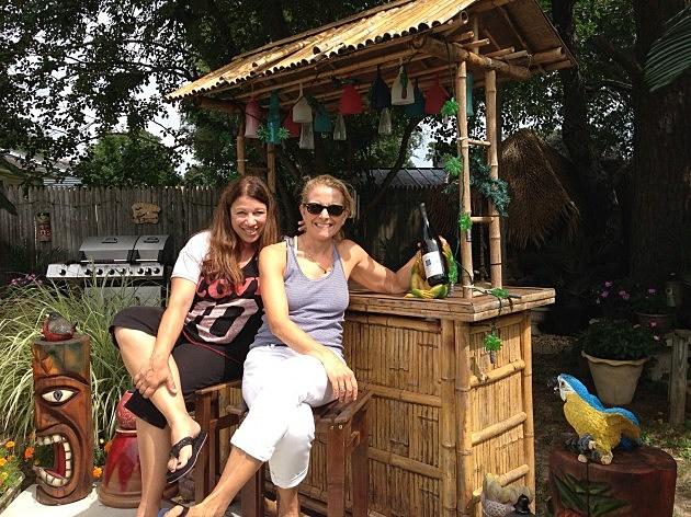 Liz and Nancy at the Tiki Bar