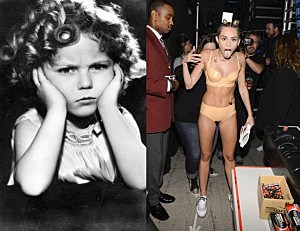 Shirley Temple Miley Cyrus
