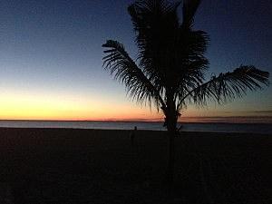 Sunrise on the beach at Jenkinson's