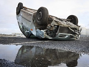 Overturned Car-Credit-iStock-122705194