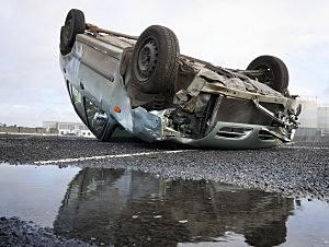 Overturned Car-Credit-iStock-122705194