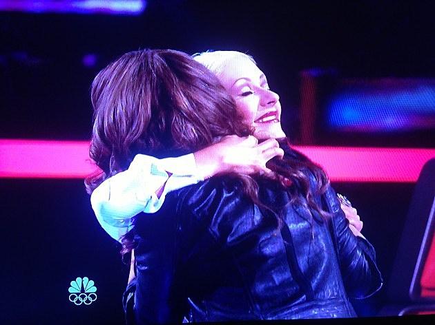 Christina hugs Jacquie