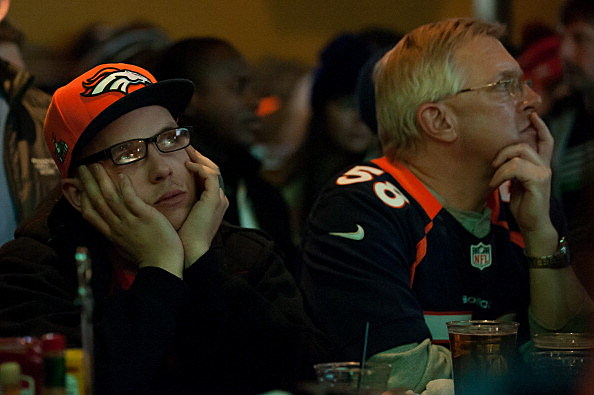 Denver Broncos Fans Watch Super Bowl XLVIII