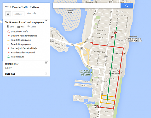 2014 seaside heights st. patrick's day parade route