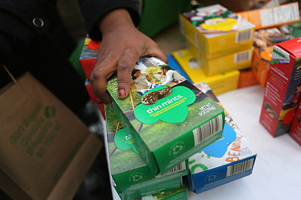 Girl Scouts Sell Cookies