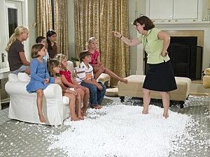 mom yelling at kids