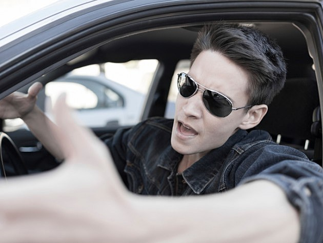 Driver with sunglasses