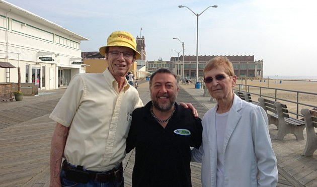 Lou with the Roth's at the Asbury Park Boardwalk