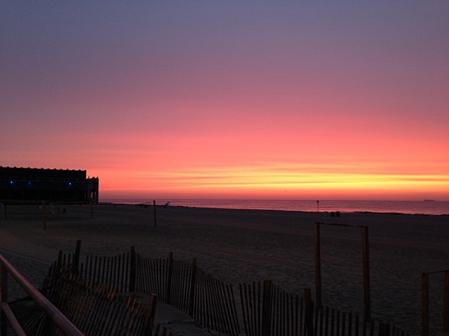 The view from the Asbury Park Boardwalk last Friday