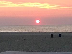 The sunrise in Asbury Park