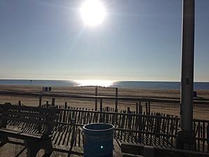 hot sun over Asbury Park beach
