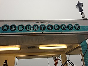 Welcome to Asbury Park sign