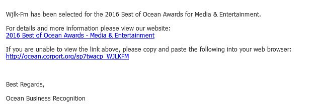 2016 best of ocean awards