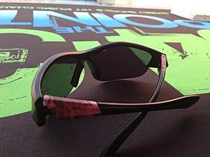 Lou's pink sunglasses