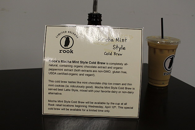 Rook Coffee mocha mint cold brew