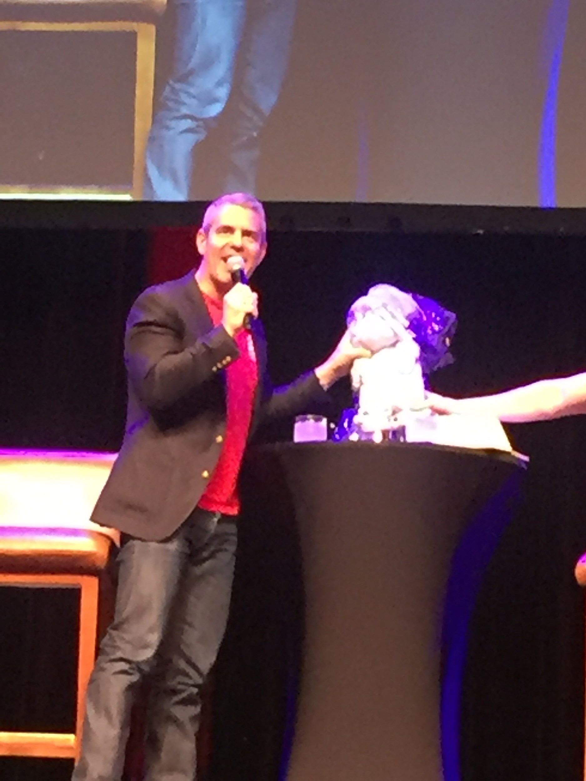 Andy Cohen bring out the bunny (photo by Diana Marie)