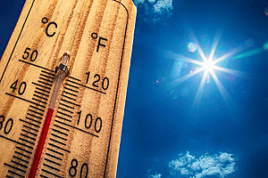 hot sun thermometer