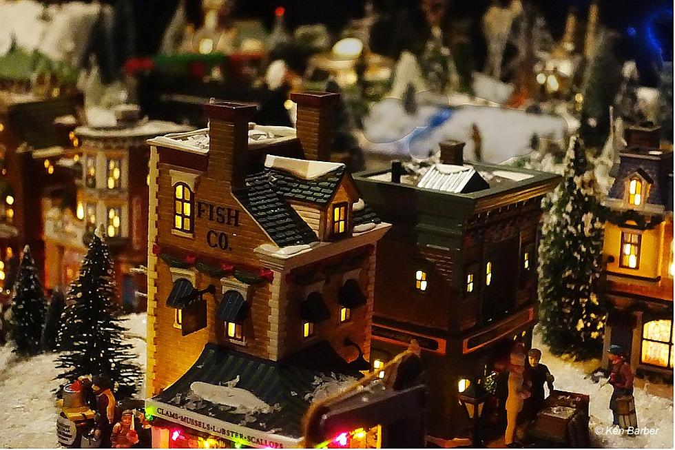 red bank familys miniature christmas village display saturday - Miniature Christmas Village